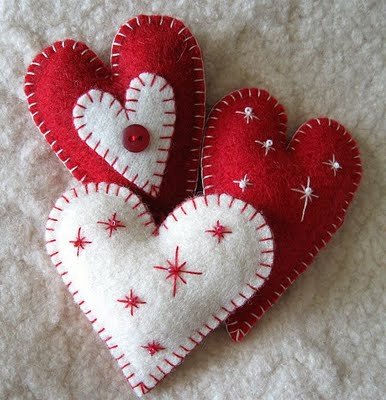 heart felt ornaments