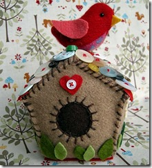 felt birdhouse ornaments