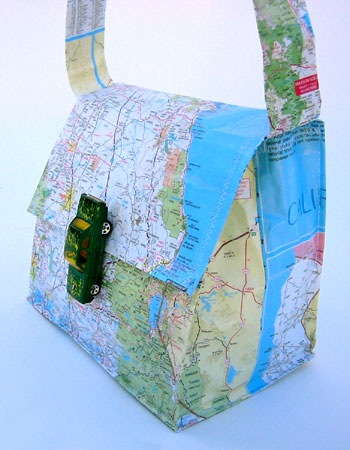 Free Map Bag Pattern – and other Cool, Artsy DIY with maps