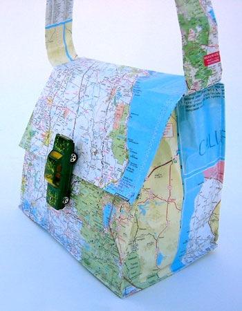 Messenger Bag a.o. Cool Map Art
