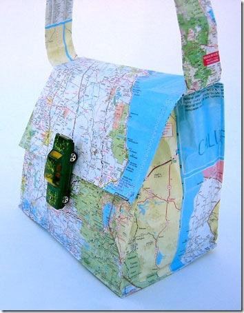 free pattern map purse