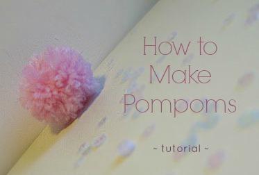 how to make pompoms :: finecraftguild.com