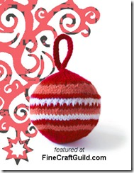 knitted craft ornament