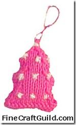 knitted christmas tree ornamen