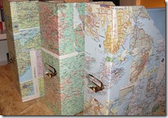 map covered binder