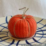 recycled sock pumpkin