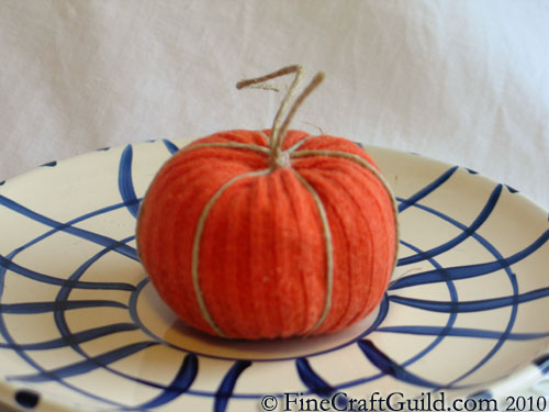 Recycled Sock Pumpkin, for a Happy Halloween or Thanksgiving