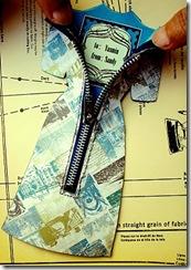 handmade zipper greeting card