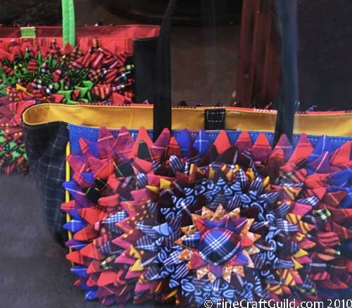 quilted bag  recycled