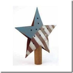 rusty tin americana tree topper