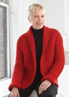 Wool Sweater Jacket for National Sweater Day :: Free Knitting Pattern