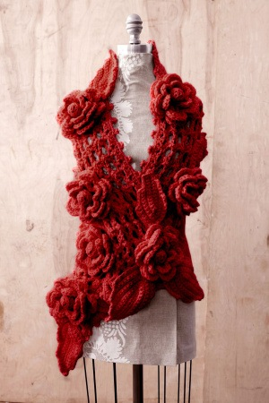 Scarlet Crochet Scarf ::  a la Anthropologie