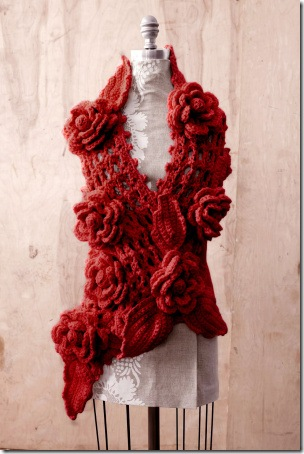 scarlet_red_rose_ scarf