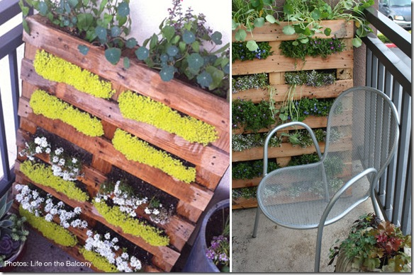 recycled pallet furniture planters