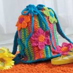 crochet summer tote bag
