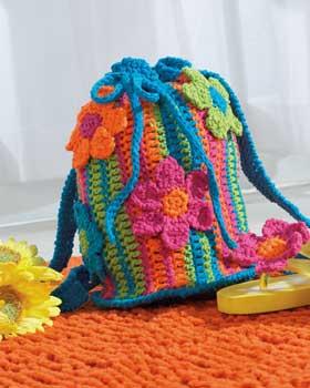 beach crochet tote bag