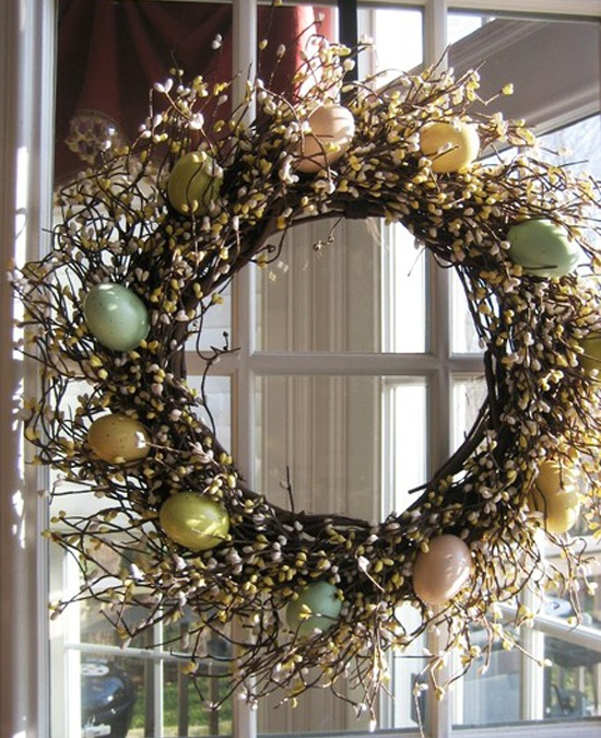 easter eggs wreaths flowers DiY