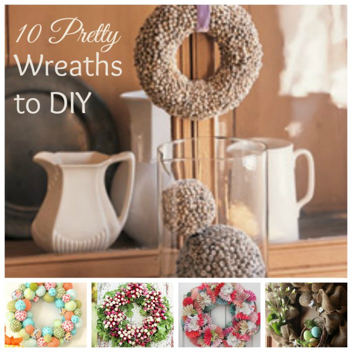 11 Pretty Easter Wreaths to DIY