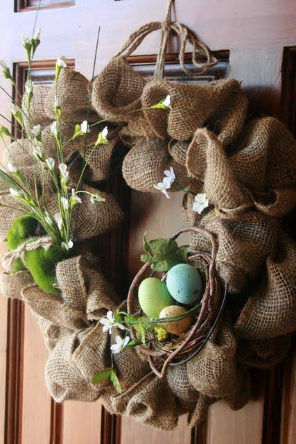 easy burlap spring wreaths