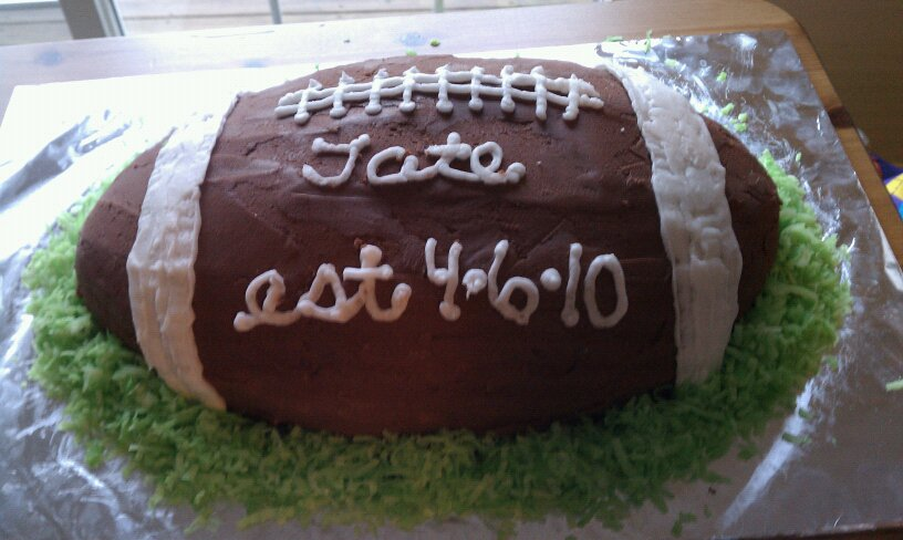 rugby football cake design and recipe