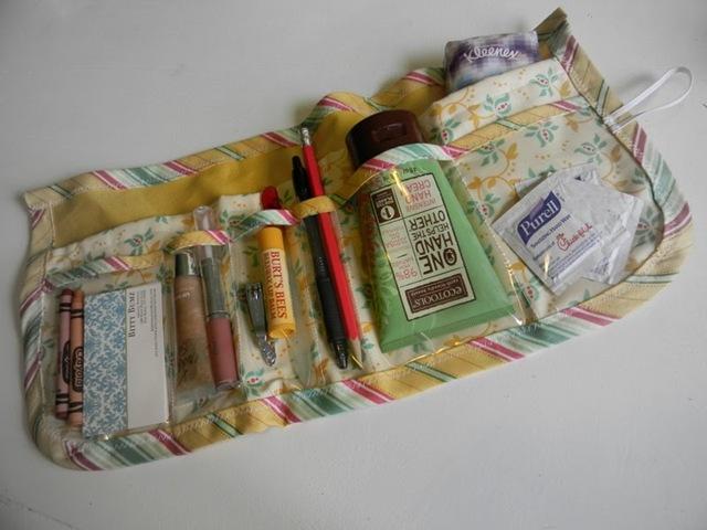 Amanda bag organizer free sewing pattern - featured at FineCraftGuild.com