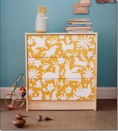 Animal Stencil Dresser