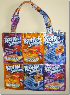 Recycled Juice Boxes = Tote Bag Patterns