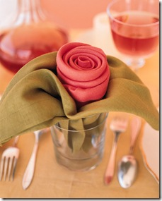 rose  napkin fold how-to