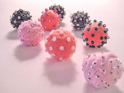 DIY Glamorous Fabric Beads