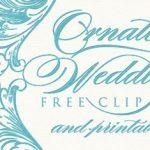 Vintage Wedding Clipart