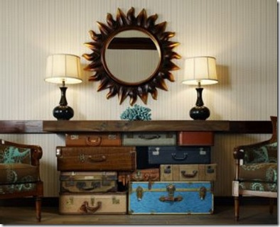living room storage suitcase