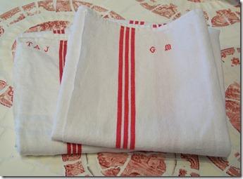 french vintage tea towels messenger bag