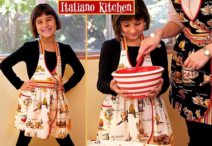 Adorable Italian Kid Apron Pattern