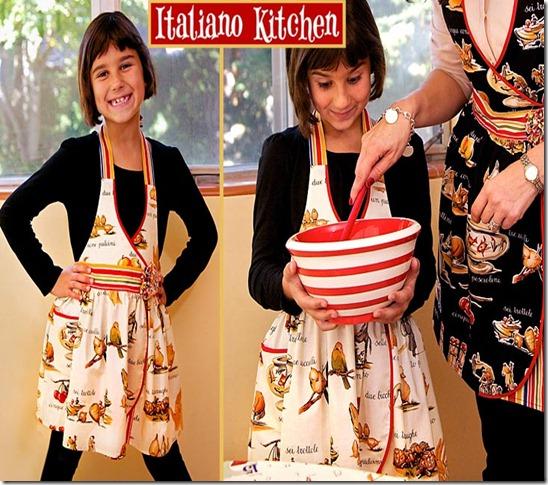 kids apron, free sewing patterns