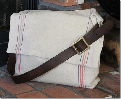 burlap messenger bags