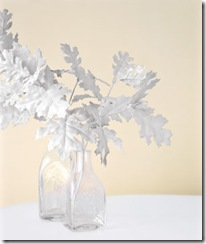 white painted foliage - Alternative Christmas Trees - FineCraftGuild.com