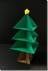 xmas origami tree