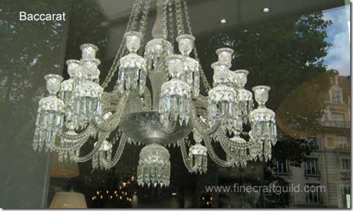 Baccarat chandelier  :: finecraftguild.com