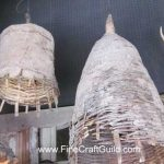 Rustic Rattan French Country Lamps