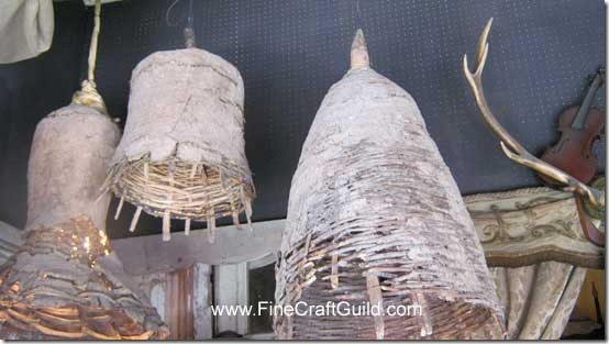rustic country rattan lamps