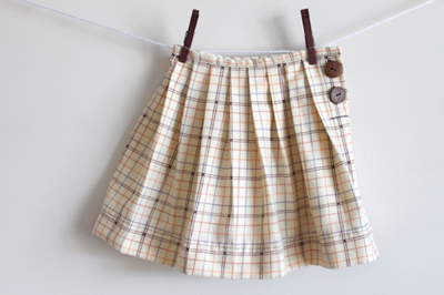 Back to School Pleated Skirt Free Sewing Pattern
