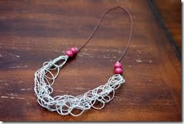 finger knitting projects necklaces