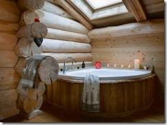 bathroom, woodsy spa bath