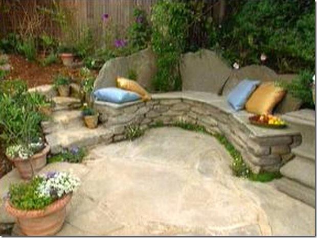 diy stone garden benches