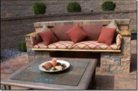 Rustic Wooden – Stone Garden Benches
