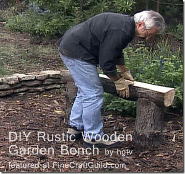 rustic log bench plans