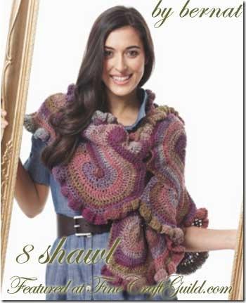 free shawl pattern :: fineCraftGuild.com