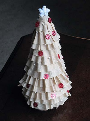 Coffee filter Tree - Alternative Christmas Trees - FineCraftGuild.com