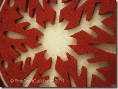 felt xmas tree ornament