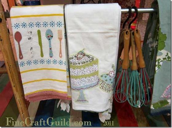 kitchen towels applique anthropologie